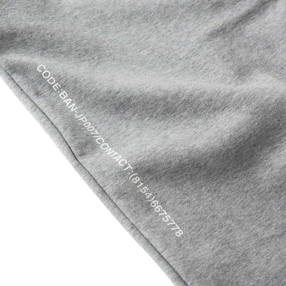 BANDEL バンデル ジョガーパンツ Spec Side Print BAN-JP006 Heather Grey