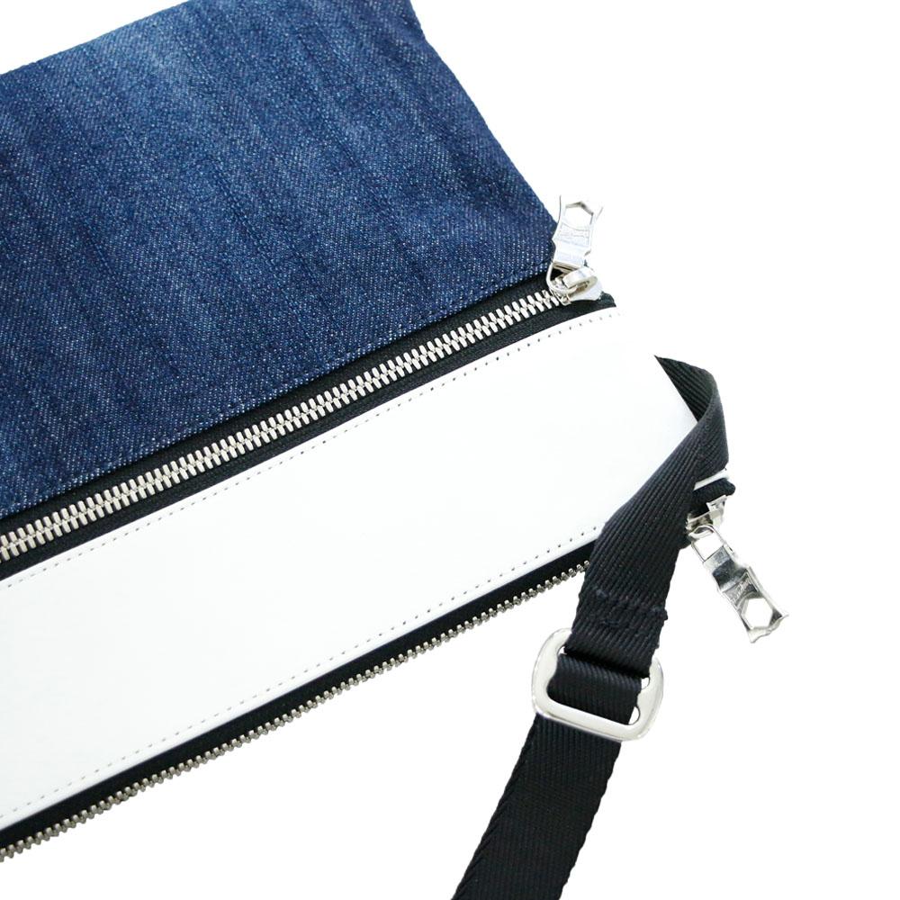 RESOUND CLOTHING サコッシュ Sacoche RC18-BAG-003 WHITExINDIGO