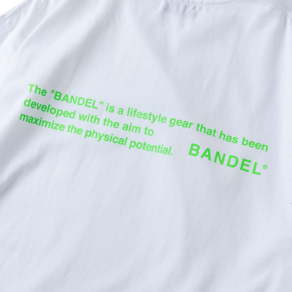 BANDEL ロンT GHOST Concept Note BAN-LT022 White×NeonGreen