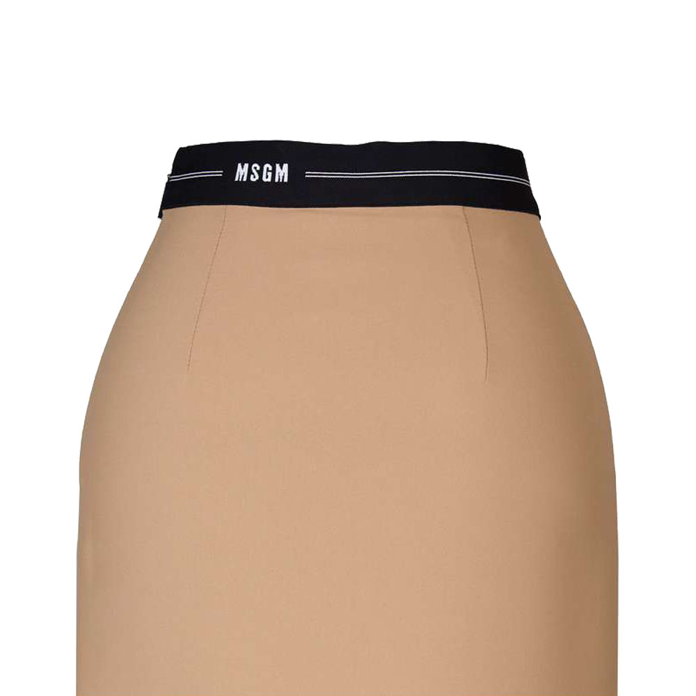 MSGM タイトスカート FLARED TIGHT SKIRT BEIGE 38