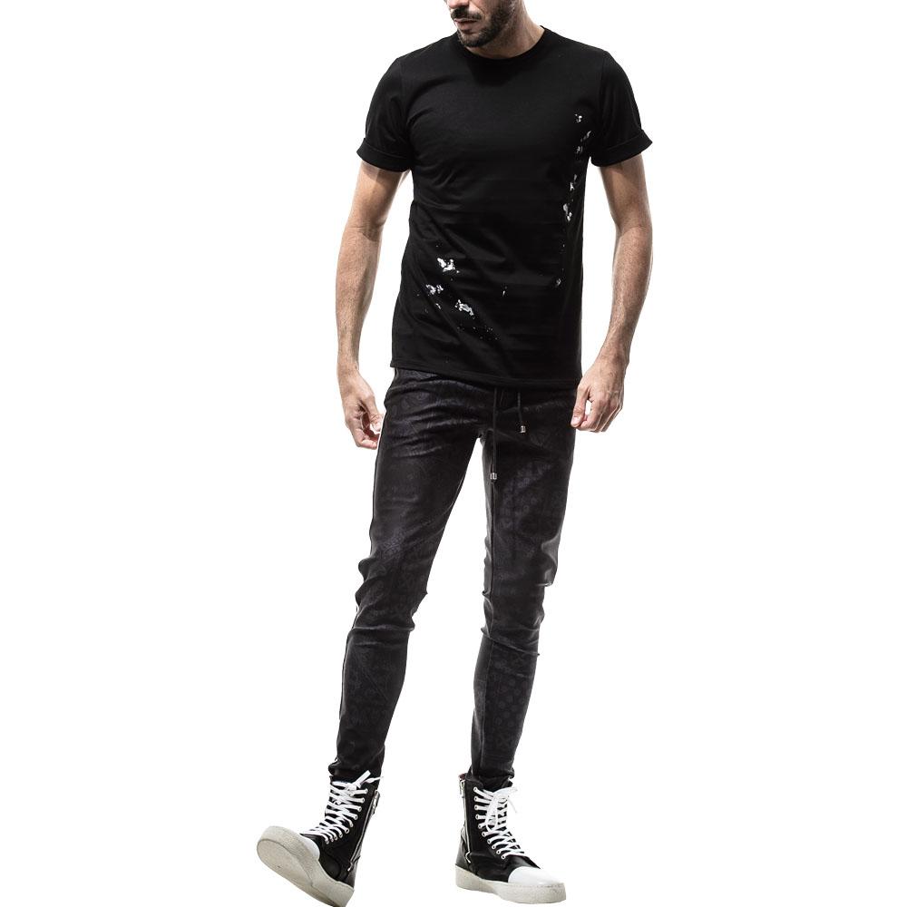 RESOUND CLOTHING Tシャツ PEINT ROLL UP jersey RC19-T-009 BLACKxGREY