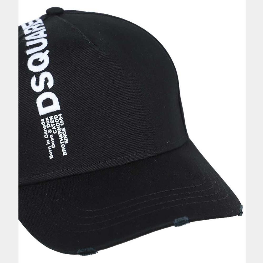 DSQUARED2 キャップ BCM0420 05C00001 BLACK