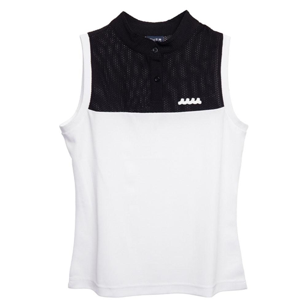 muta MARINE ポロシャツ ノースリーブ MMBC-200817 BLACKxWHITE
