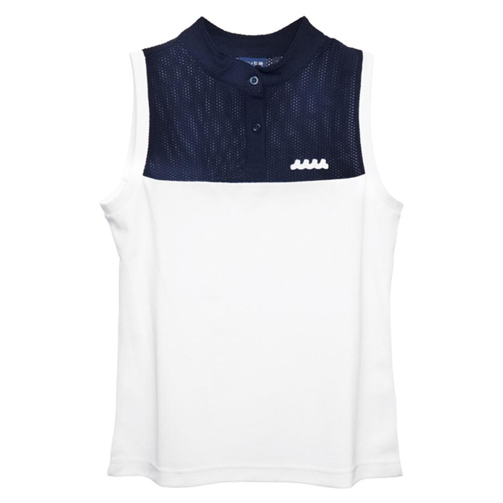 muta MARINE ポロシャツ ノースリーブ MMBC-200817 NAVYxWHITE