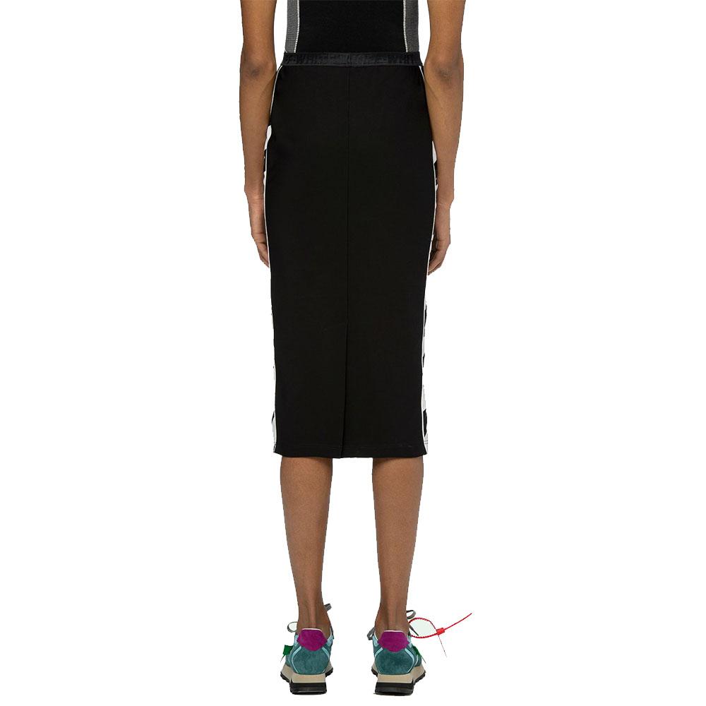 OFF-WHITE スカート DIAG ATHLETIC SKIRT BLACKxWHITE