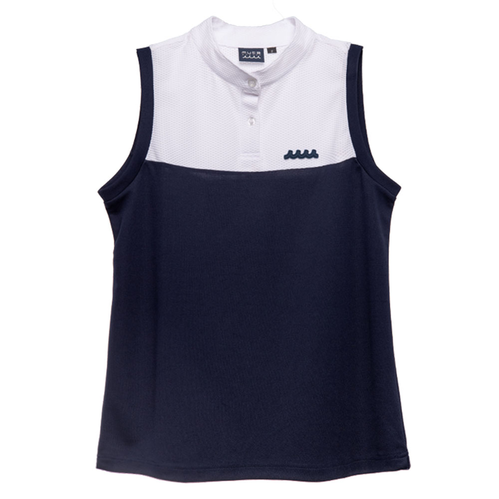 muta MARINE ポロシャツ ノースリーブ MMBC-200817 WHITExNAVY