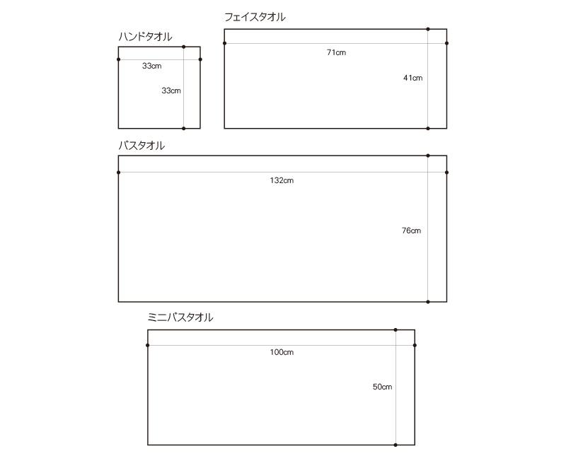 Micro Cotton マイクロコットン REGULAR レギュラー ミニバスタオル WHITE/IVORY/MOCA