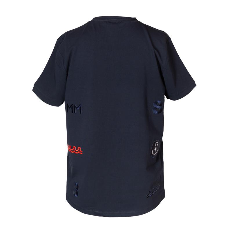 muta MARINE Tシャツ BACK ARRANGEMENT NAVY
