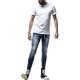 【予約】RESOUND CLOTHING Tシャツ PEINT ROLL UP jersey RC19-T-009 WHITExLIME