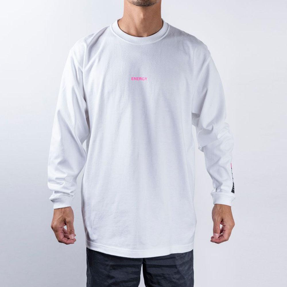 BANDEL ロンT Color Benefit BAN-LT023【ENERGY】White×NeonPink