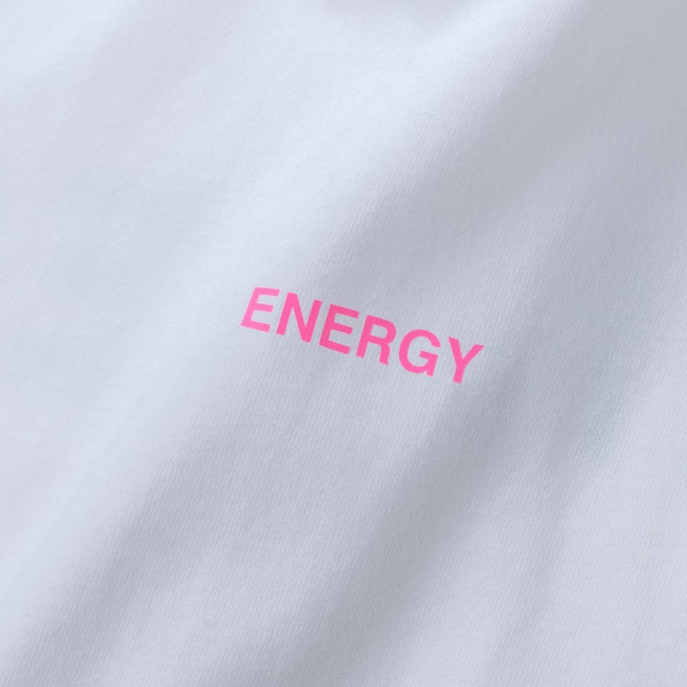 BANDEL ロンT Color Benefit BAN-LT023【ENERGY】White×NeonPink