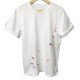 RESOUND CLOTHING Tシャツ PEINT ROLL UP jersey RC19-T-009 WHITExPINK