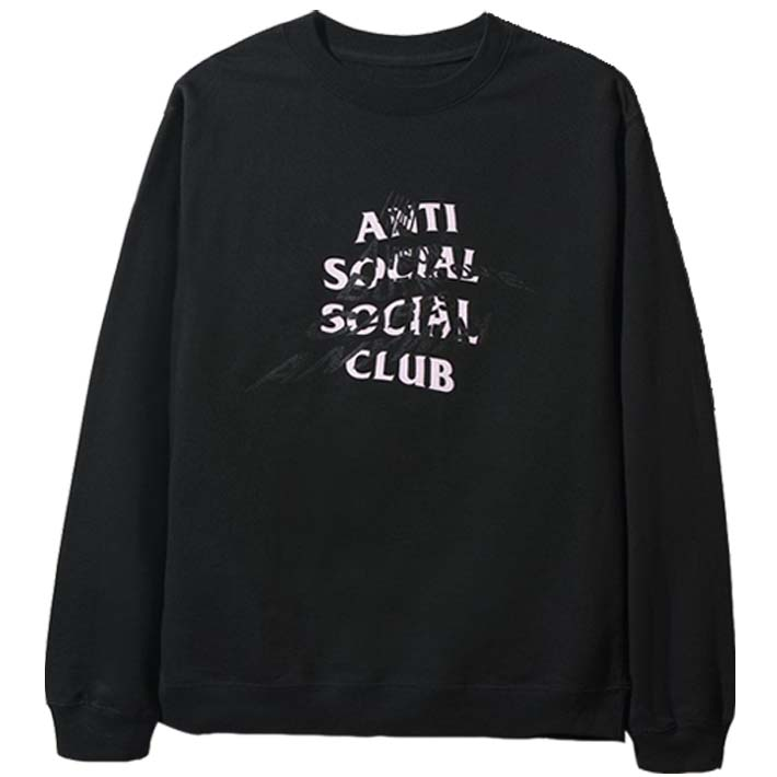 ANTI SOCIAL SOCIAL CLUB スウェット I Had A VIsion But No One Cares Anyways Black Crewneck