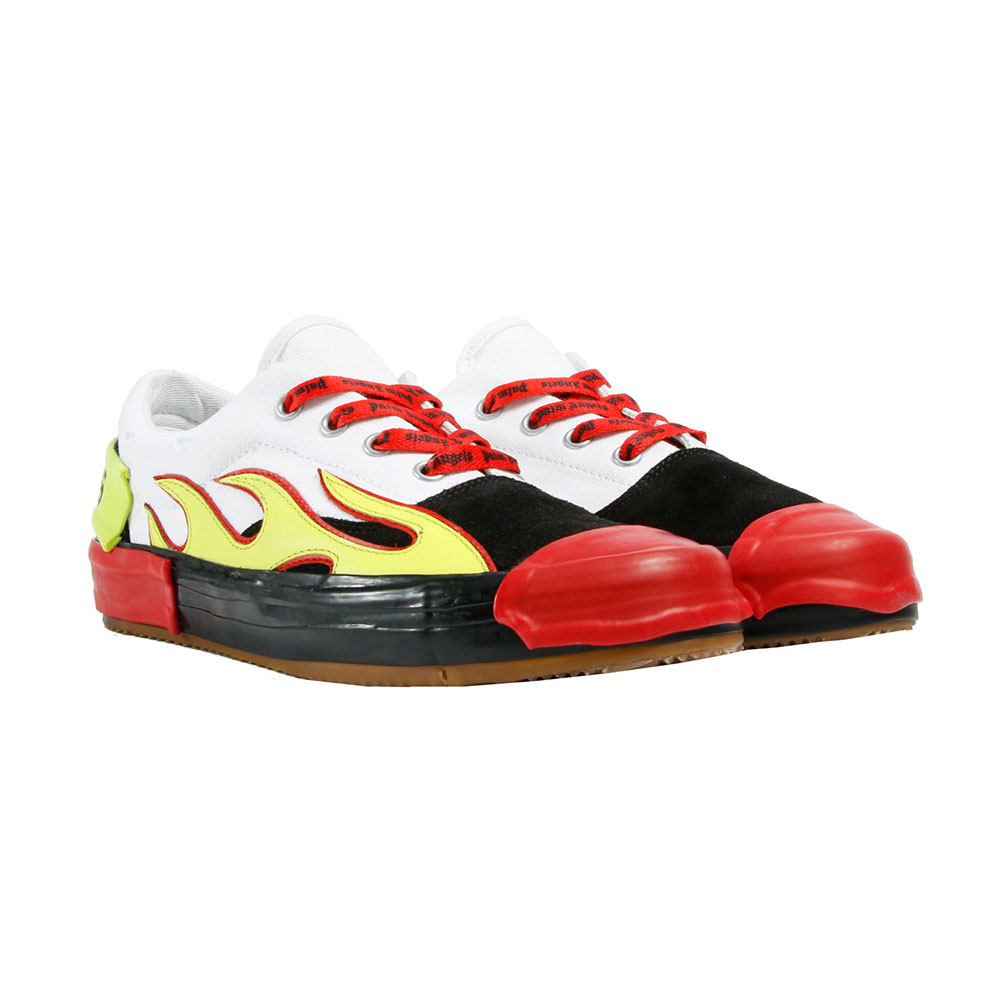 PALM ANGELS スニーカー FLAME SNEAKERS 886 MULTIxYELLOW