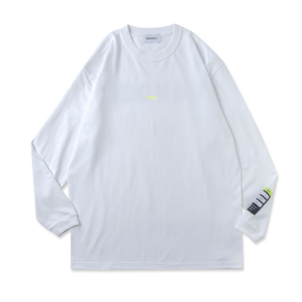 BANDEL ロンT Color Benefit BAN-LT023【CHILL】White×NeonYellow