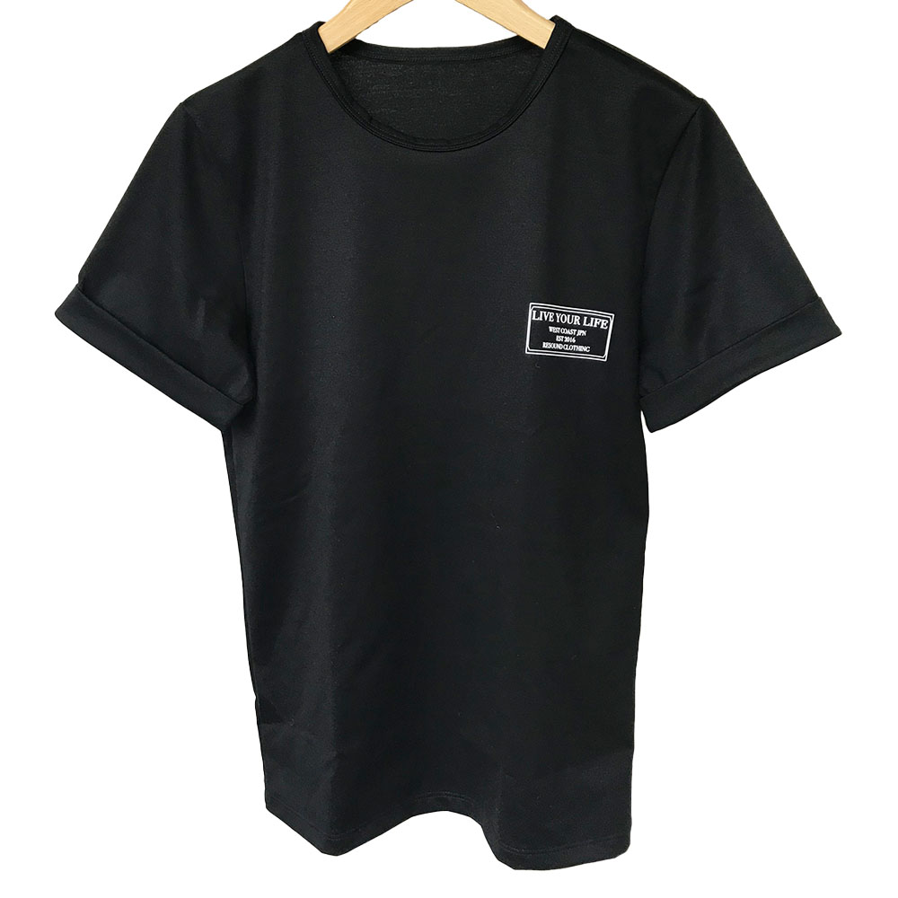 RESOUND CLOTHING Tシャツ CREW ROLL UP jersey RC19-T-008 BLACK
