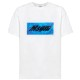 MSGM Tシャツ SCOOP NECK WITH POOL PATCH  OPTICAL WHITE