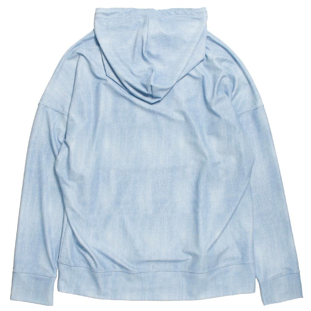 RESOUND CLOTHING ラッシュフーディー DENIM RUSH loose hoodie RC20-C-001 LIGHT INDIGO