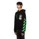 OFF-WHITE フーディー PASCAL PAINTING OVER HOODIE BLACK