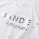 """BANDEL Tシャツ COLLECTION LINE """"GHOST"""" XL-LOGO S/S T BAN-T011 WhitexSilver"""