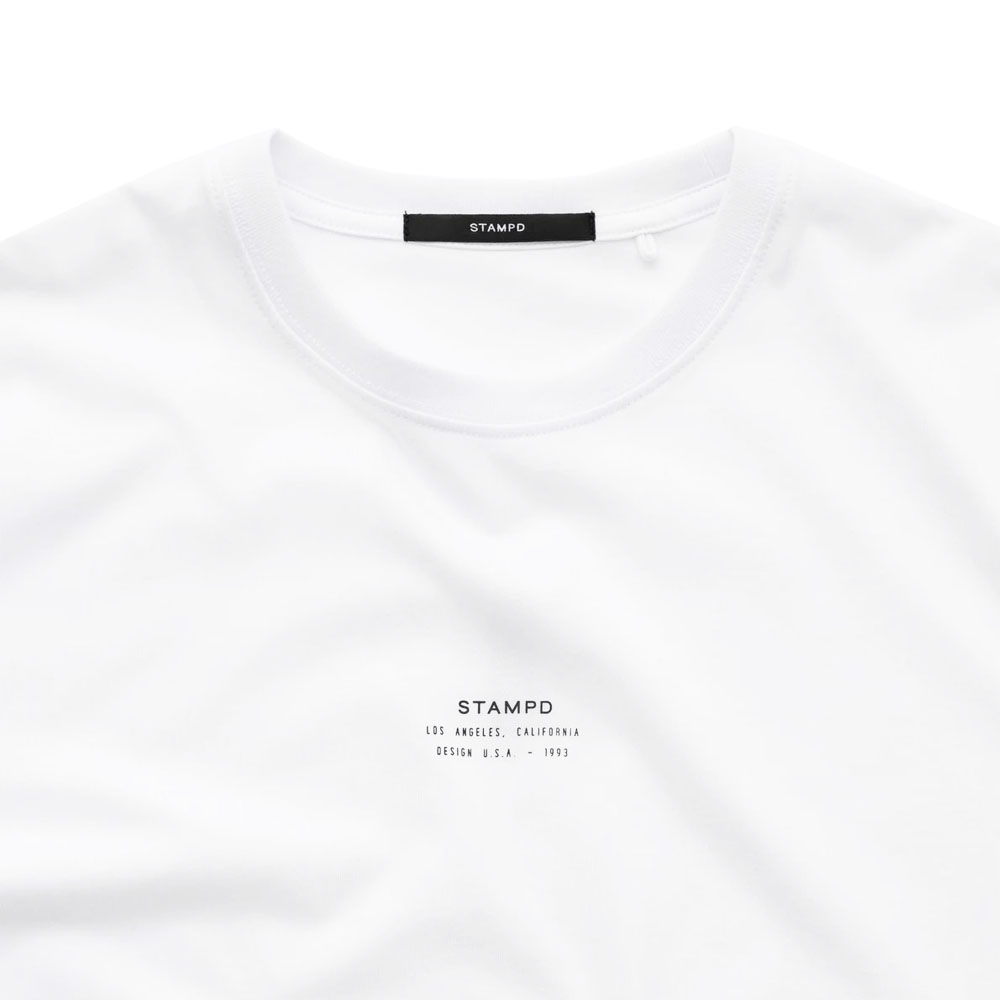 STAMPD Tシャツ Core Logo Stack Tee WHITE