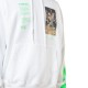 OFF-WHITE フーディー PASCAL PAINTING OVER HOODIE WHITE