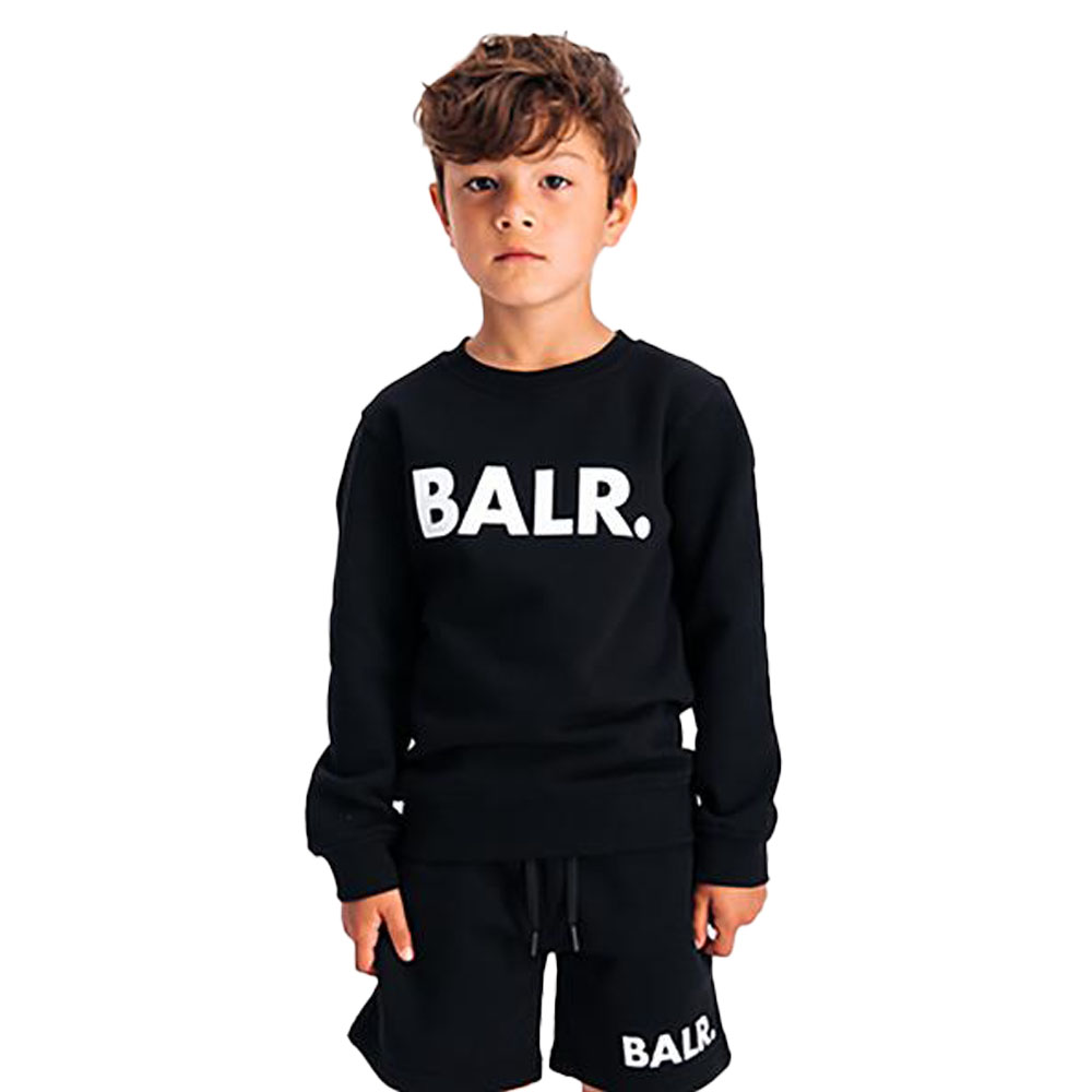 BALR. キッズスウェット BRAND CREW NECK SWEATER B10221 BLACK