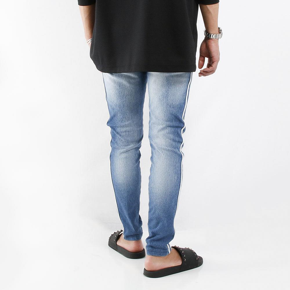 RESOUND CLOTHING パンツ EX denim jersey line PT RC21-ST-008D LIGHT INDIGO