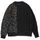 STAMPD セーター Cheetah Blocked Sweater BLACK