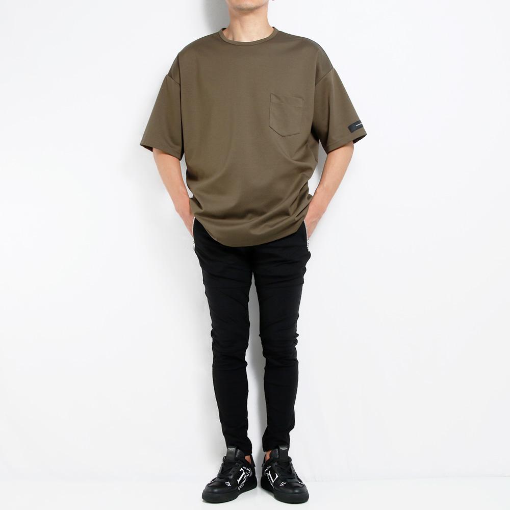 RESOUND CLOTHING パンツ Johnson LINE NYLON PT RC20-ST-009 BLACKxWHITE