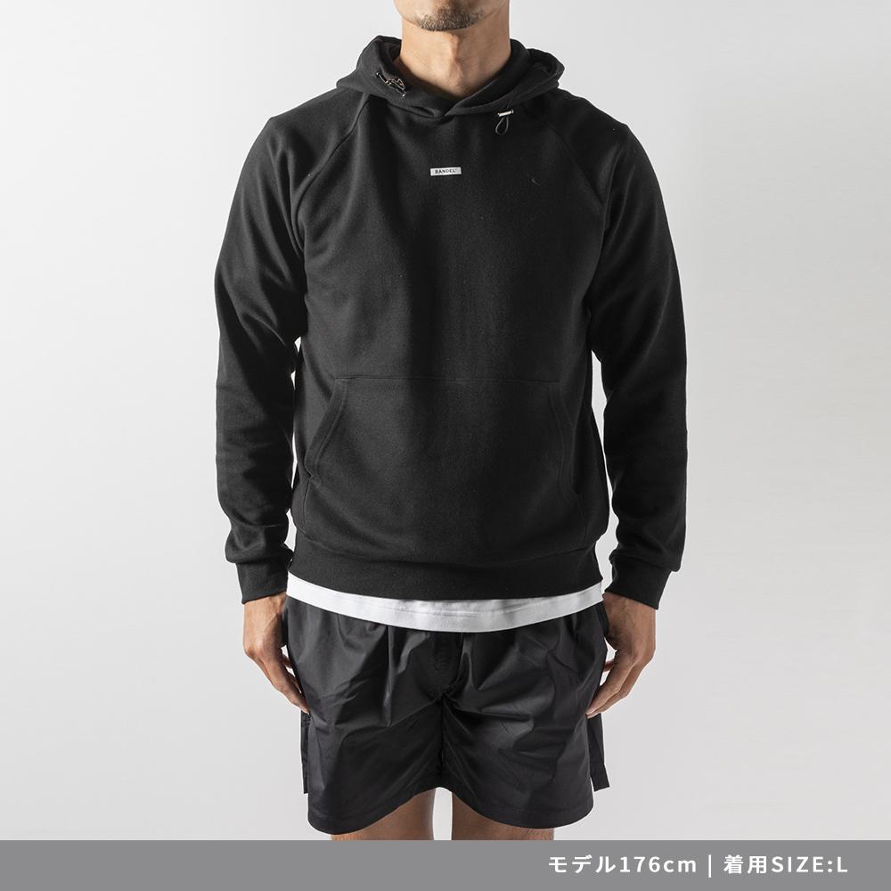 BANDEL フーディー Vertical Print Hoodie BAN-HD023 Black