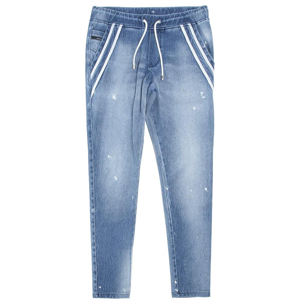 RESOUND CLOTHING パンツ EX denim jersey EDGE PT RC21-ST-014D LIGHT INDIGO