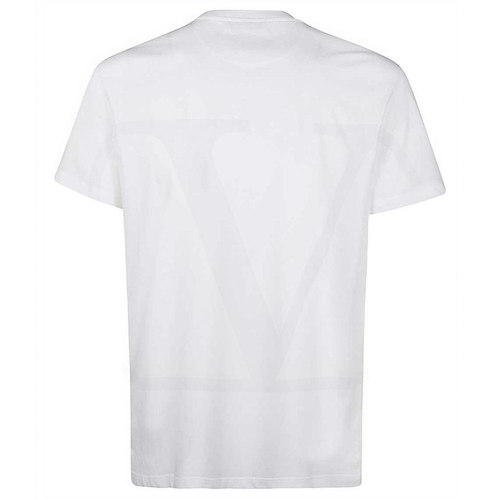VALENTINO Tシャツ VLOGO OMBRA PRINT UV3MG08C6K727U WHITExYELLOW