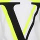 VALENTINO Tシャツ VLOGO OMBRA PRINT UV3MG08C6K727U WHITExYELLOW