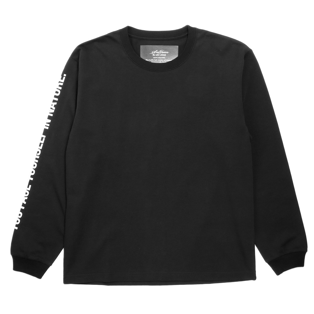 Seagreen ロンT ORGANIC COTTON JERSEY LONG SLEEVE T-SHIRT MSEA21S8200-M BLACK