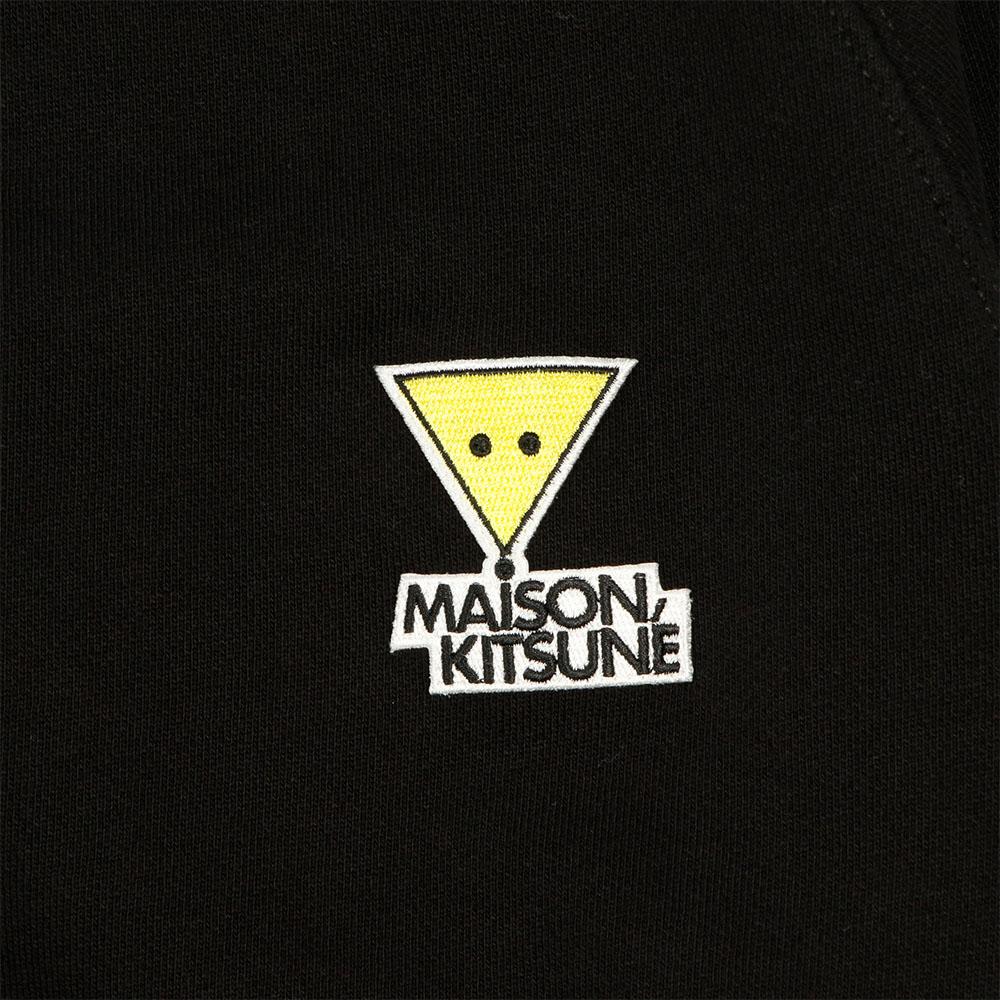 MAISON KITSUNE スウェット レディース SMILY FOX PATCH BLACK