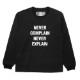 Seagreen ロンT ORGANIC COTTON JERSEY LONG SLEEVE T-SHIRT MSEA21S8201-M BLACK