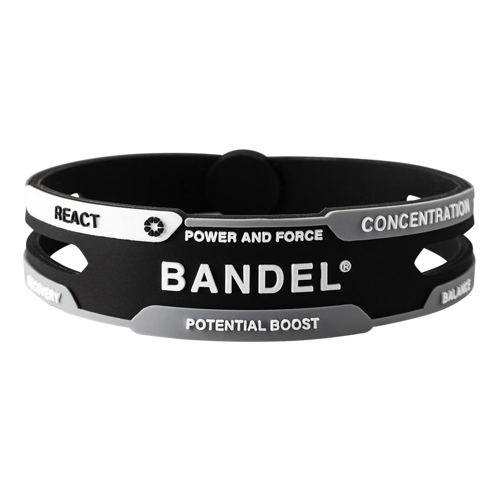 BANDEL ブレスレット REACT Black×White