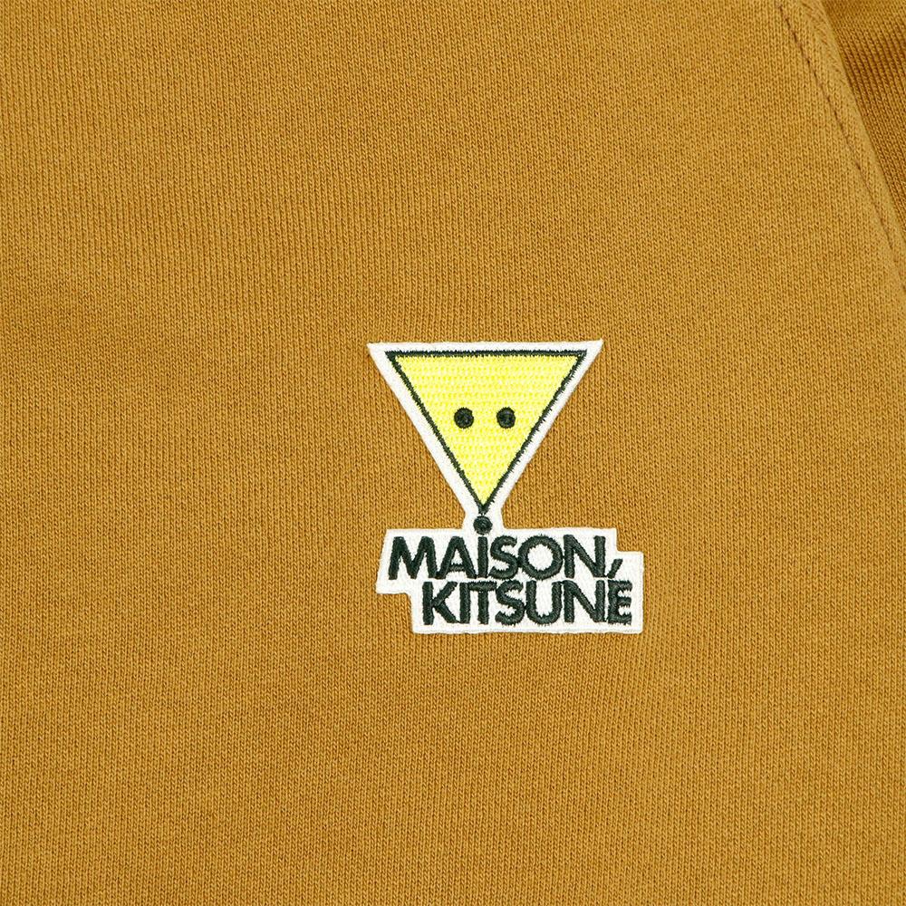 MAISON KITSUNE スウェット レディース SMILY FOX PATCH CAMEL