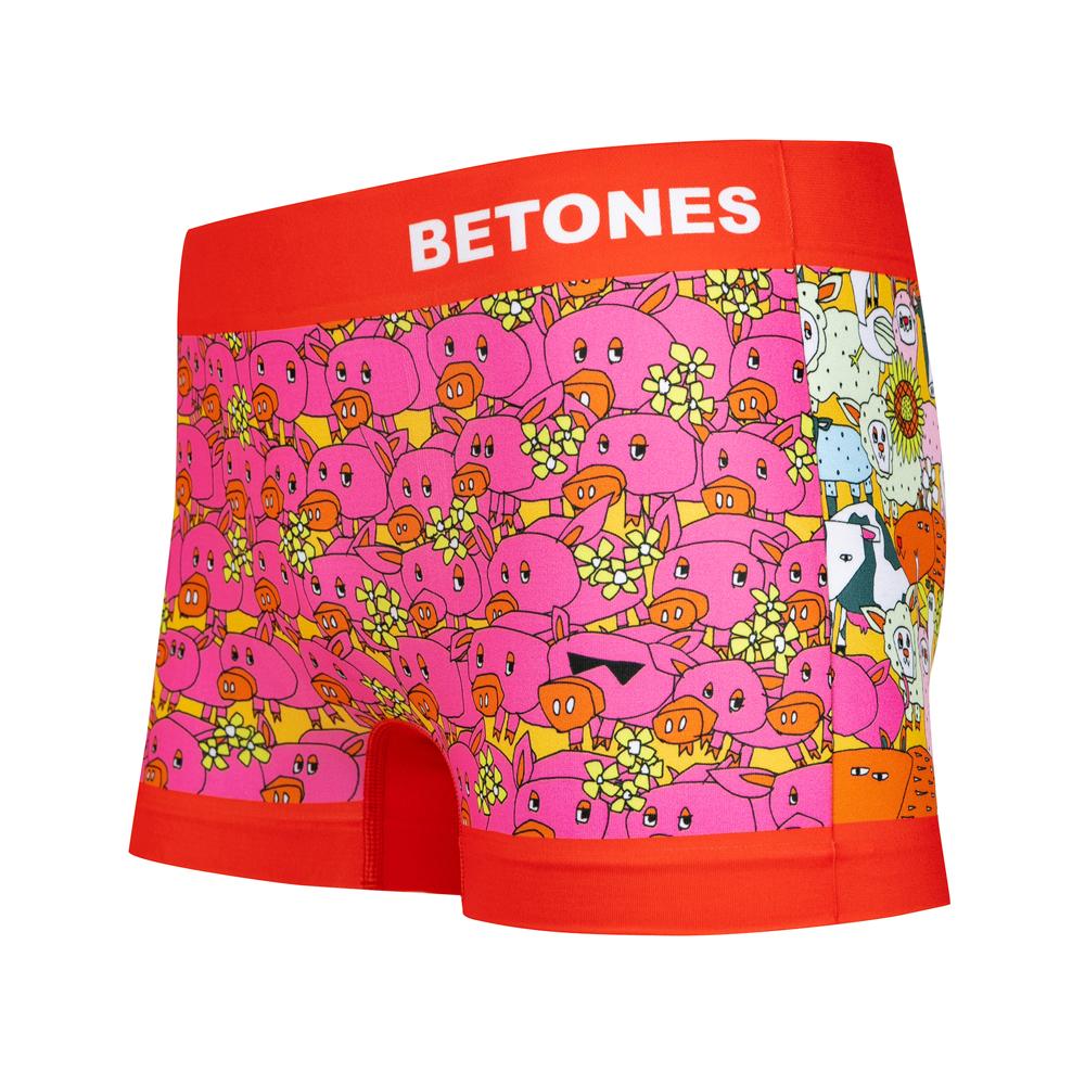 BETONES ボクサーパンツ MOTHER FARM FARM001 RED Free