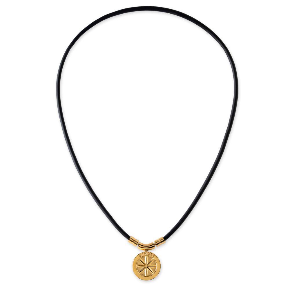 BANDEL 磁気ネックレス Healthcare Line Fine Necklace EARTH mini BLACKxGOLD