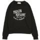 MAISON KITSUNE スウェット レディース PALAIS ROYAL BLACK AW00300KM0001