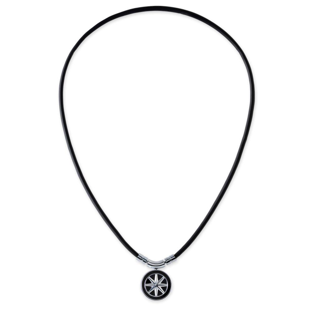 BANDEL 磁気ネックレス Healthcare Line Fine Necklace EARTH mini BLACKxSILVER