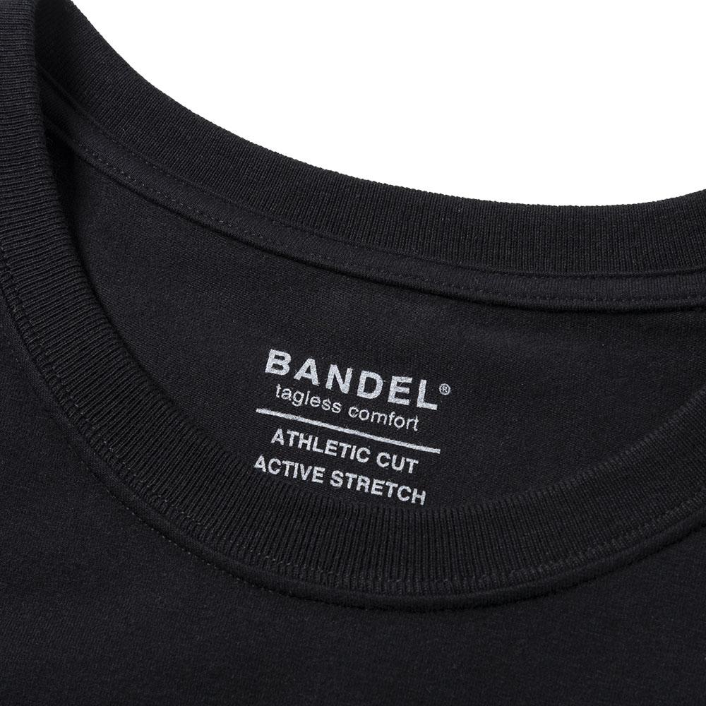 BANDEL Tシャツ Vertical Print Short Sleeve T BAN-T026 Black