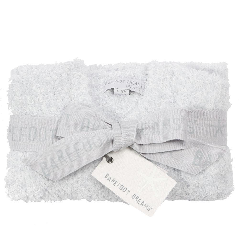 BAREFOOT DREAMS ベビーカーディガン Infant Heathered Cardigan B815 Blue/White