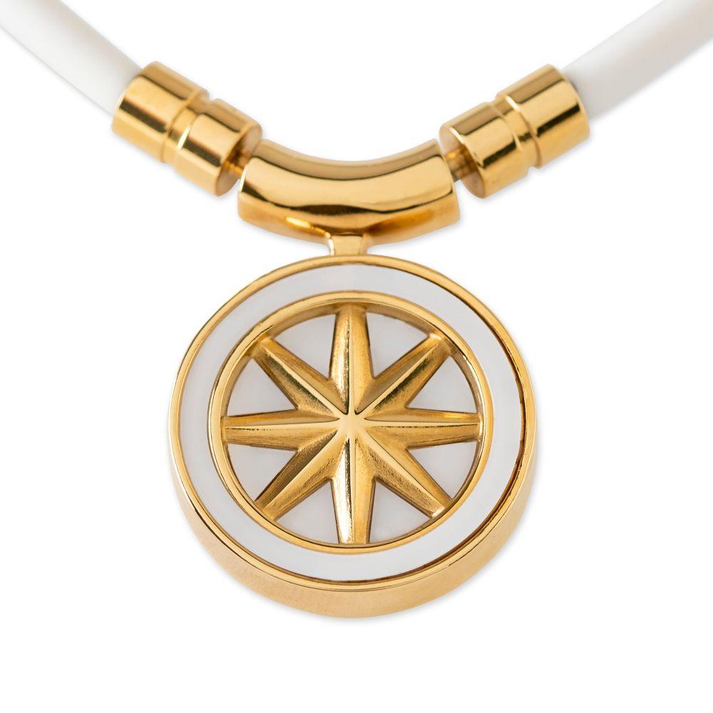 BANDEL 磁気ネックレス Healthcare Line Fine Necklace EARTH mini WHITExGOLD