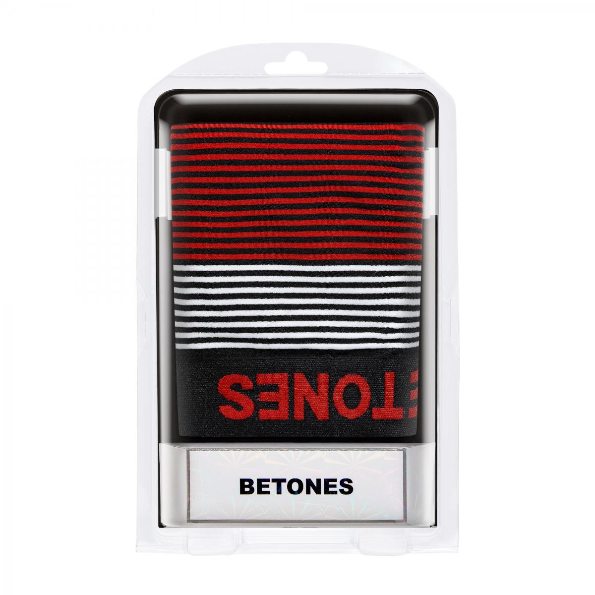 BETONES ビトーンズ ボクサーパンツ NEON4-B006 BLACKxRED