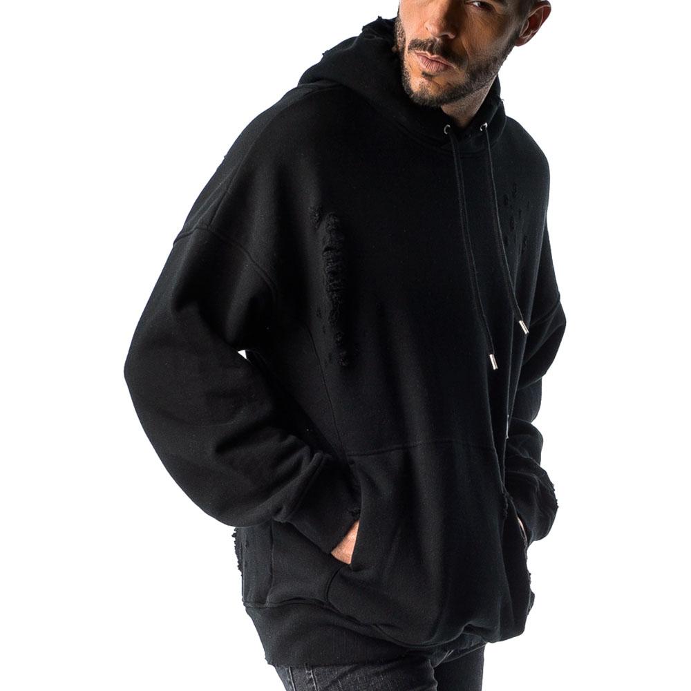 RESOUND CLOTHING フーディ Processing loose hoodie RC17-C-004 / BLACK CLASH