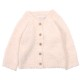 BAREFOOT DREAMS ベビーカーディガン Infant Heathered Cardigan B815  Pink/White