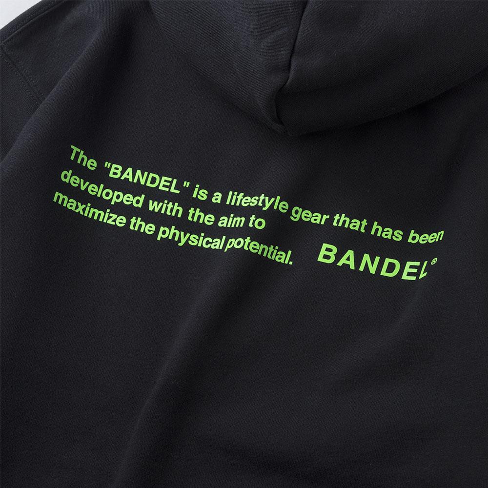 BANDEL フーディー GHOST Concept Notes BAN-HD017 BlackxNeonGreen